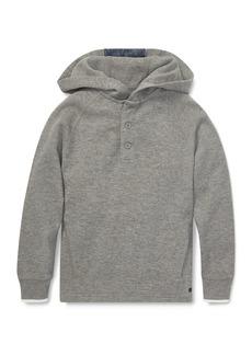 Ralph Lauren Childrenswear Logo Button-Placket Hoodie  Size 2-4