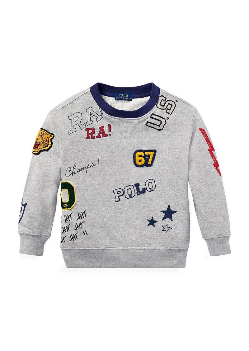 Ralph Lauren Childrenswear Logo Patches Sweatshirt  Size 5-7