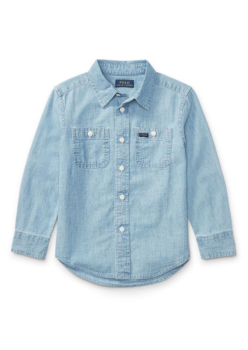 Ralph lauren ralph lauren childrenswear long sleeve for Chambray shirt for kids