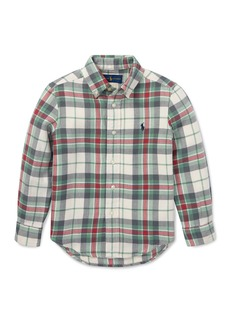 Ralph Lauren Childrenswear Long-Sleeve Plaid Button-Down Shirt  Size 2-4