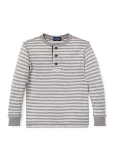 Ralph Lauren Childrenswear Long-Sleeve Striped Henley Top  Size 2-4