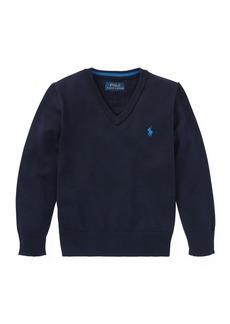 Ralph Lauren Childrenswear Long-Sleeve V-Neck Knit Sweater
