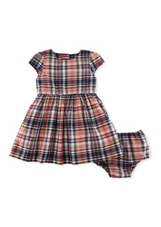Ralph Lauren Childrenswear Madras Fit-and-Flare Check Dress w/ Bloomers