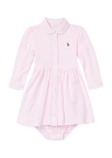 Ralph Lauren Childrenswear Oxford Long-Sleeve Shirt Dress w/ Bloomers  size 6-24 Months