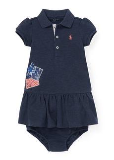 Ralph Lauren Childrenswear Patchwork Dress w/ Bloomers  Size 6-24 Months
