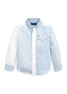 Ralph Lauren Childrenswear Patchwork Oxford Button-Down Collar Shirt  Size 2-4