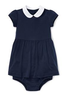 Ralph Lauren Childrenswear Peter Pan-Collar Dress w/ Bloomers  Size 6-24 Months