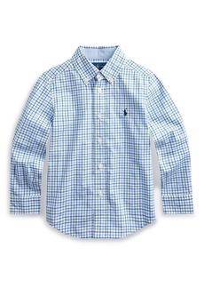 Ralph Lauren Childrenswear Plaid Natural Stretch Poplin Sport Shirt  Size 2-4
