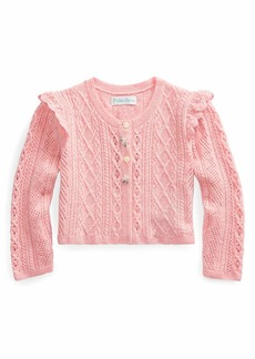Ralph Lauren Childrenswear Pointelle Button-Front Sweater  Size 6-24 Months