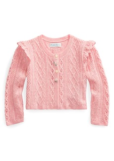 Ralph Lauren Childrenswear Pointelle Button-Front Sweater  Size 6-24 Months