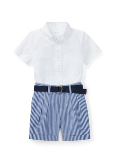 Ralph Lauren Childrenswear Poplin Cotton Outfit Set