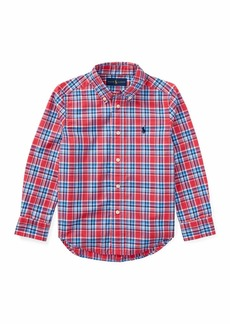 Ralph Lauren Childrenswear Poplin Plaid Button-Down Shirt