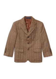 Ralph Lauren Childrenswear Princeton Herringbone Wool-Silk Blazer  Size 4-7