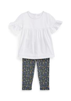 Ralph Lauren Childrenswear Ruffle Top w/ Floral Leggings  Size 6-24 Months