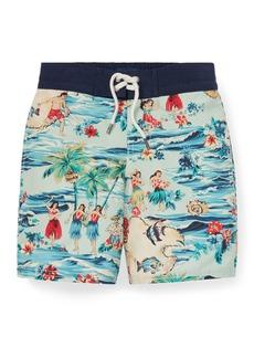 Ralph Lauren Childrenswear Sanibel Hawaiian Beach Swim Trunks  Size 5-7