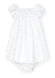 Ralph Lauren Childrenswear Seersucker Smocked Dress w/ Matching Bloomers  Size 6-24 Months