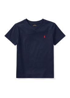 Ralph Lauren Childrenswear Short-Sleeve Jersey V-Neck T-Shirt  Size 2-3