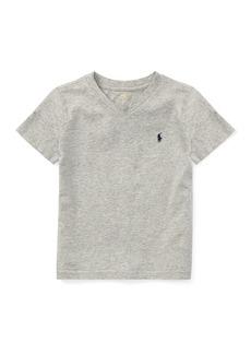 Ralph Lauren Childrenswear Short-Sleeve Jersey V-Neck T-Shirt  Size 4-7