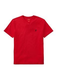 Ralph Lauren Childrenswear Short-Sleeve Jersey V-Neck T-Shirt  Size S-XL