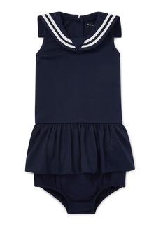 Ralph Lauren Childrenswear Sleeveless Nautical Sailor Dress w/ Matching Bloomers  Size 6-24 Months