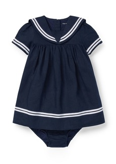 Ralph Lauren Childrenswear Short-Sleeve Sailor Dress w/ Bloomers  Size 6-24