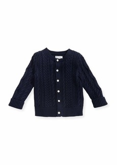 Ralph Lauren Soft Pearl Cotton Cable-Knit Cardigan