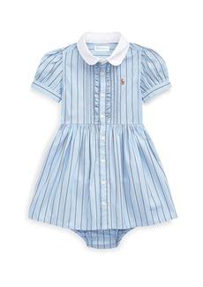 Ralph Lauren Childrenswear Striped Button-Up Dress w/ Bloomers  Size 6-24 Months