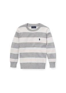 Ralph Lauren Childrenswear Striped Cotton Sweater  Size 5-7
