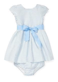 Ralph Lauren Childrenswear Striped Woven Dress w/ Matching Bloomers  Size 6-24 Months