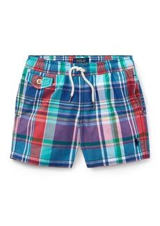 Ralph Lauren Childrenswear Traveler Plaid Swim Trunks