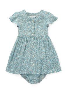 Ralph Lauren Childrenswear Woven Floral Dress w/ Bloomers  Size 6-24 Months
