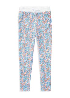 Ralph Lauren: Polo Polo Ralph Lauren Girls' Floral Fleece Pants - Little Kid