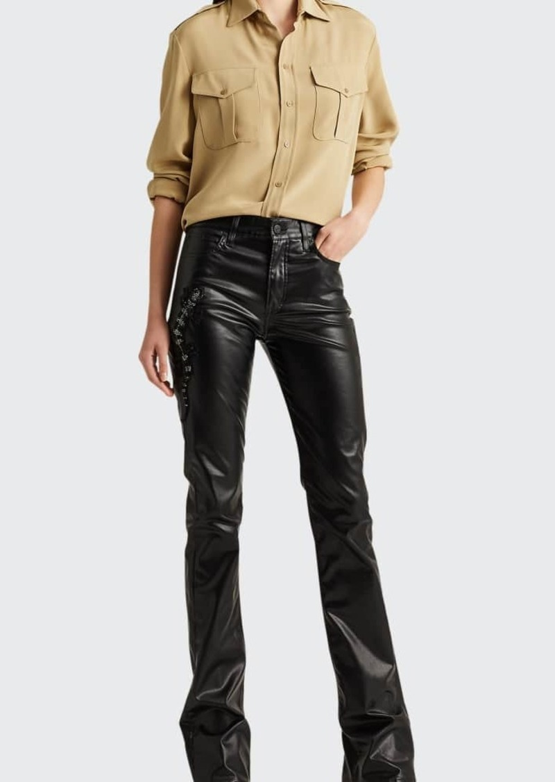Ralph Lauren Collection 208 High-Rise Boot-Cut Jeans