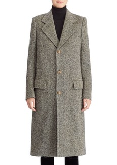Ralph Lauren Collection 50th Anniversary Bernette Three-Button Melange Wool Mid-Length Coat