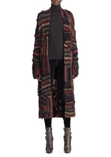 Ralph Lauren Collection 50th Anniversary Open-Front Crochet Patchwork Long Coat