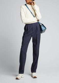 Ralph Lauren Collection Andela Checked Wool Straight-Leg Pants