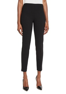 Ralph Lauren Collection Annie Cropped Wool Crepe Pants  Black