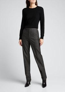 Ralph Lauren Collection Aubree Wool Flannel Pants