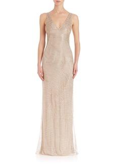 Ralph Lauren Collection Beaded Adeena Evening Dress