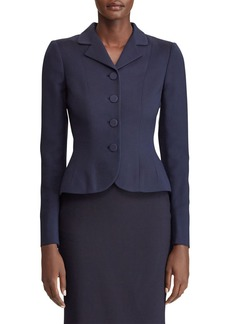 Ralph Lauren Collection Beatrice Button-Front Wool-Silk Blazer