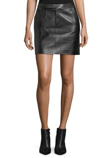 Ralph Lauren Bennett Leather Skirt