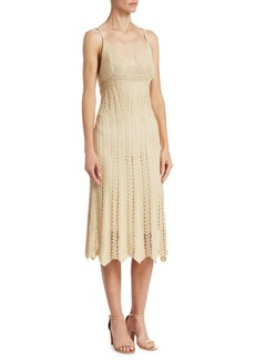 Ralph Lauren Blonde Silk Cami Crochet Dress