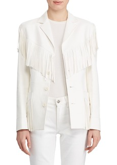 Ralph Lauren Collection Bryleigh Fringed Leather Jacket