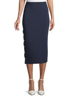 Ralph Lauren Collection Button-Side Knit Pencil Skirt