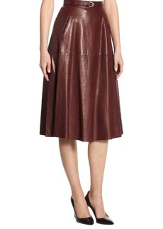 Ralph Lauren Carlotta Leather Skirt