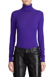 Ralph Lauren Collection Cashmere Jersey Turtleneck Sweater  Purple