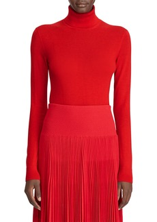 Ralph Lauren Collection Cashmere Jersey Turtleneck Sweater  Red