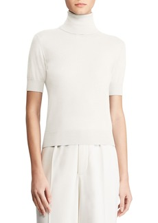 Ralph Lauren Collection Cashmere Short-Sleeve Turtleneck Sweater