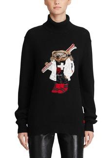 Ralph Lauren Collection Cashmere Ski Bear Turtleneck Sweater