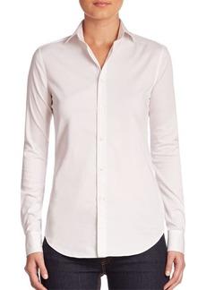 Ralph Lauren Iconic Style Charmain Stretch Sateen Shirt